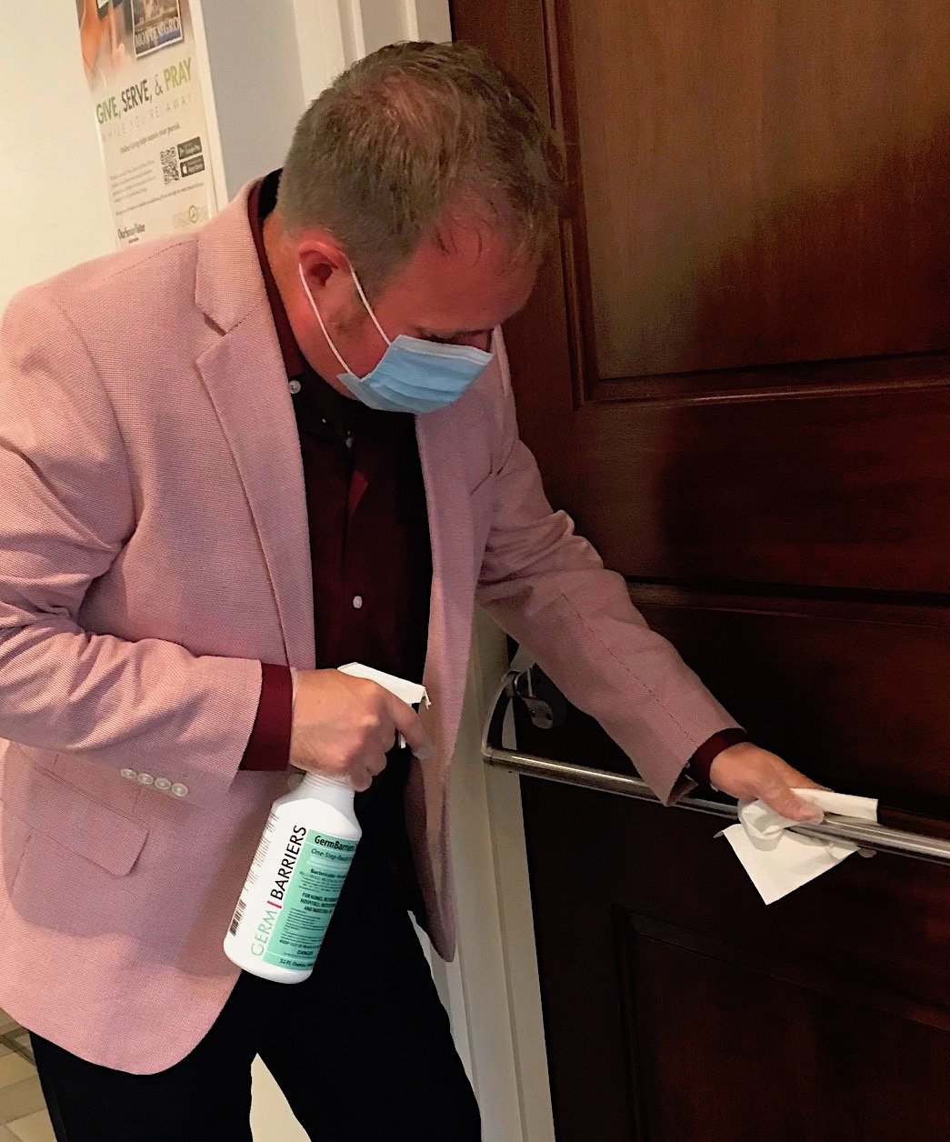 For Cleaning AND Disinfecting: Spray, Wipe, Spray, then Let Dry